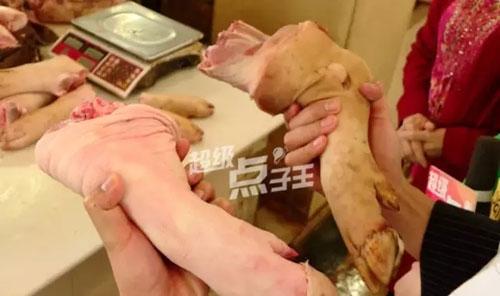 如何区分猪手猪脚,猪蹄前蹄后蹄分辨图片,正宗南乳猪手的做法