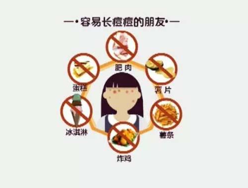 长痘痘不能吃的东西食物,长痘痘能吃甜食吗