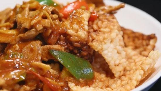 绝味锅巴肉片的做法,剩米饭怎么做简单好吃