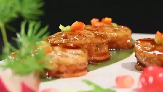 暖暖大厨蒋应荣,酱烧藕盒的做法视频