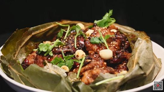 暖暖的味道20180116视频,刘鹏,荷叶蒸辣烧排骨,茶香脆皮虾