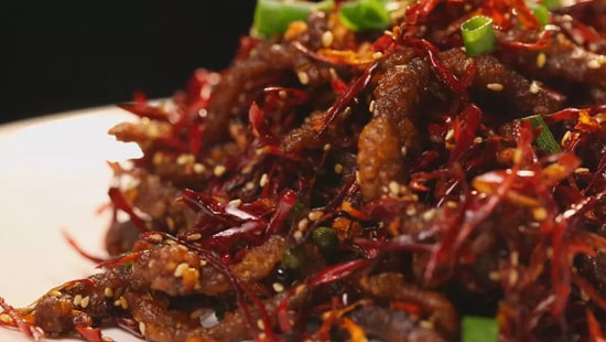 暖暖的味道20180117视频,顾玉亮,陈皮干煸牛肉丝,红酒茄汁带鱼