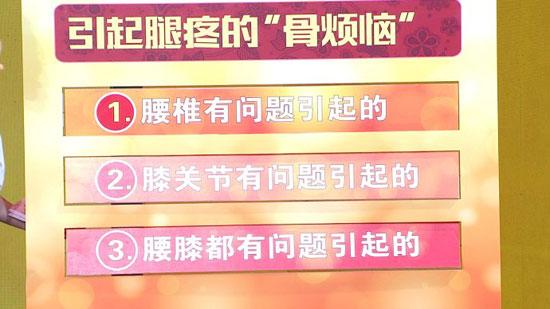 养生堂20180701,吕厚山,刘海鹰,腿疼背后的真相,腰椎,膝关节