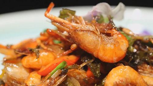 暖暖的味道20181014,夏天,龙井油爆虾,中国红烧肉
