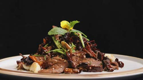 暖暖的味道20190107,王培欣,戏水麒麟鱼,贡椒小牛肉