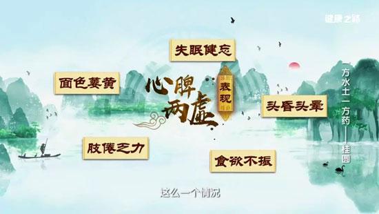 健康之路20190915,桂圆的功效,代参膏,扶中汤,桂姜茶