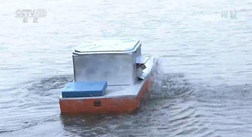 我爱发明视频,程志金,自动喂虾船,虾塘保姆,20190916
