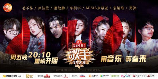 歌手当打之年20200207,第1期歌单,华晨宇,米希亚,萧敬腾,徐佳莹,袁娅维